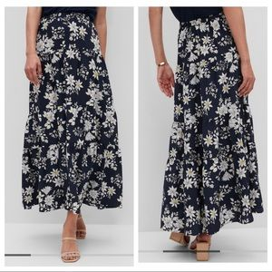 Banana Republic Tiered Floral Maxi Skirt